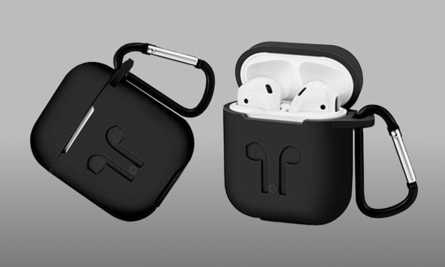装着中の充電可能❗AirPodsの保護に🔥AirPods用シリコンケース カラビナ付✨【全国配送無料】
