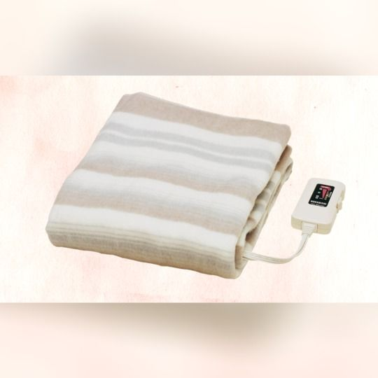 寒い夜に布団に入っても寒くない🎵丸洗いOKでお手入れ簡単👌電気敷き毛布 NA-023S【全国配送無料】