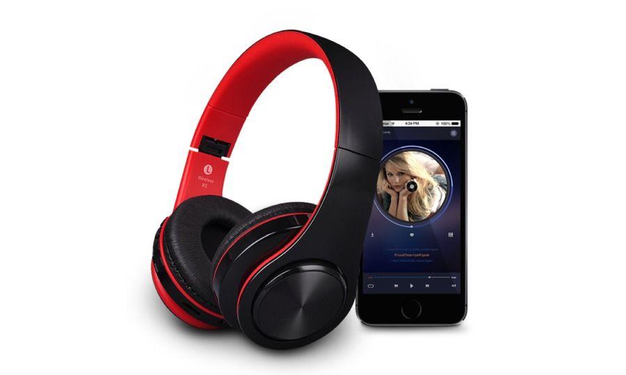 いつでもどこでも音楽を身近に🎵Bluetooth5.0 ワイヤレスヘッドフォン ≪レッド≫ 🎧【全国配送無料】